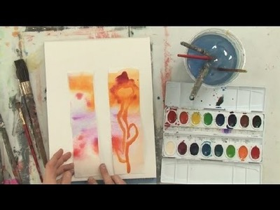 How to Make Bookmarks With Old Watercolors : Watercolor Painting