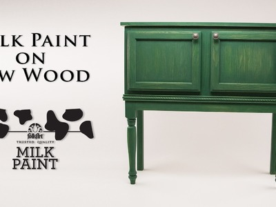 How To Use Milk Paint on Raw Wood