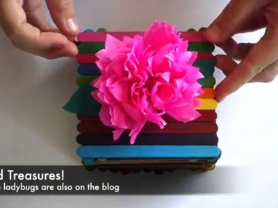 Kids Treasure Box made with Popsicle Sticks