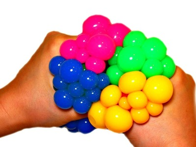 Learn Colors with Squishy Mesh Stress Balls for Toddlers - Finger Family for KIDS
