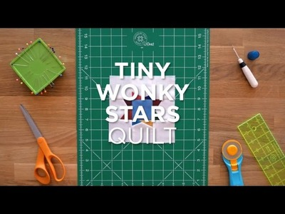 Make the Easy Tiny Wonky Stars Quilt Block - Quilt Snips Mini Tutorial
