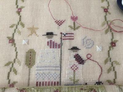 Nicole's Needlework: 1 strand of thread vs. 2 threads over 2