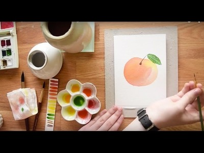 Paint a Ripe Peach in Watercolor~ Beginner's Tutorial