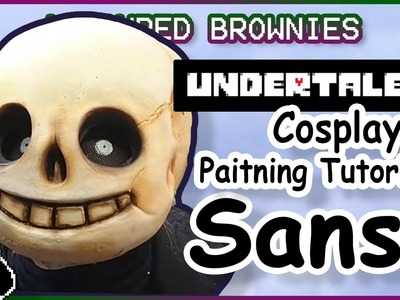 Sans Cosplay Painting Tutorial - Undertale Mask Painting
