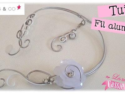 { Tuto } Collier en fil aluminium ( Collab. perles & co )
