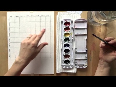 Watercolor Mixing Chart tutorial