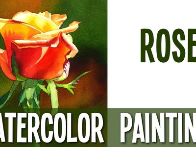 Watercolor Painting Tutorial - Rose