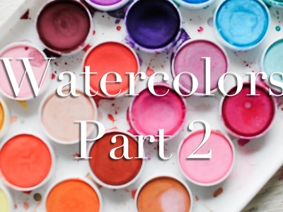 Watercolors Part 2: How I Decorate my pages with them!