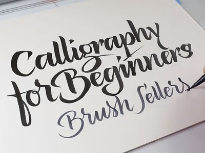 Calligraphy for Beginners – The Brush Pen Letters – Online class