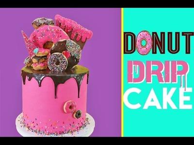 Donut Drip Cake | Strawberry, Funfetti & Donuts GALORE | Elise Strachan | My Cupcake Addiction