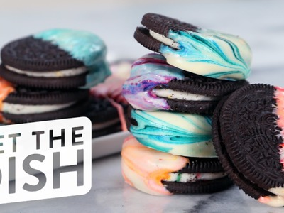 How to Make Marbled Oreos in 3 Easy Steps | Get the Dish