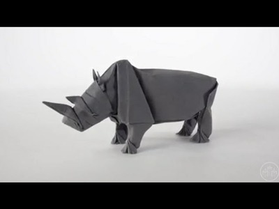 How to make rhino origami