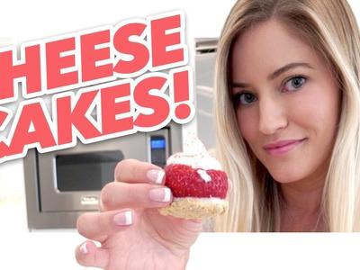 How to make tiny strawberry cheesecakes!