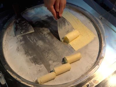 Mango Ice Cream Rolls - Fried Ice Cream Rolls in Taiwan