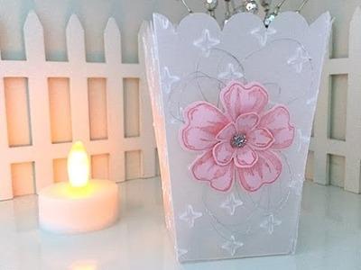 Simply Simple POPCORN BOX Vellum Tea Light by Connie Stewart