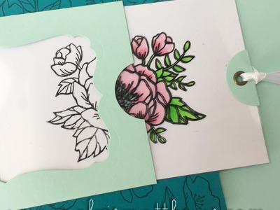 Card making process video #7 - Stampin Up Birthday Blooms Magic Slider Card
