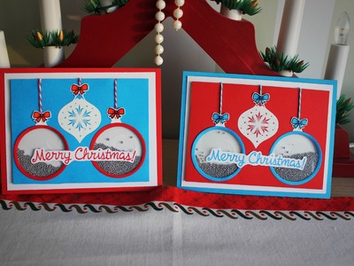 Christmas card series 2015 *day 6* - baubles shaker card