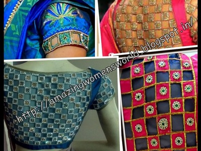 CREATIVE DESIGNER BLOUSE   EASY MAKING