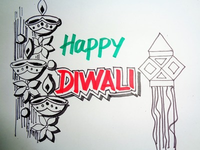 Diwali Speacial - How To Draw Lanterns And Diyaas