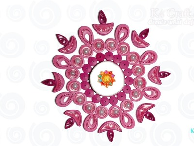 DIY: Handmade paper quilling Diwali Candle. Diya Holder -Happy Diwali