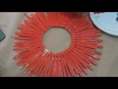 How to make a paddle pop stick Christmas wreath