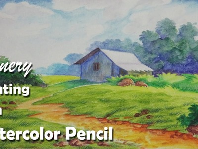 How to Paint A Scenery with Watercolor Pencil | Step by step | Episode-2
