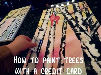 How to paint trees with a credit card