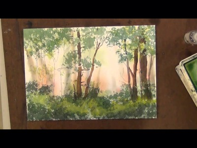 How to Sponge Trees with Watercolor Painting