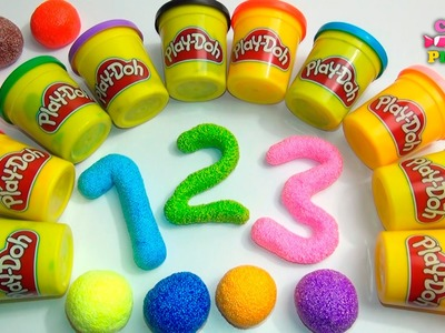 Learn To Count with Play-doh Numbers 11 to 20 | Learn To Count with Squishy Glitter Foam 1-10