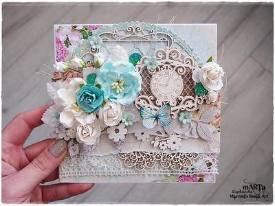 Romantic Shabby Chic Card Tutorial for Scrapiniec