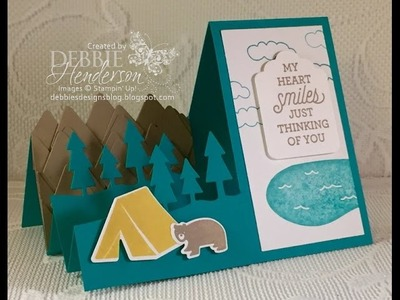Stampin Up Always An Adventure Side Step Card