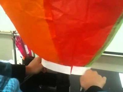 Tissue paper hot air baloon