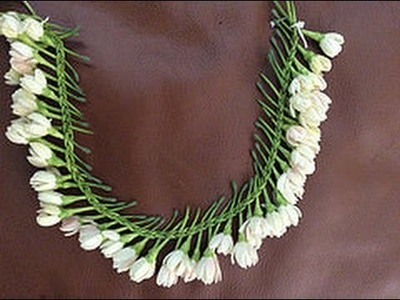 Waterfall pattern flower braid. lei.garland. ( Gajra )