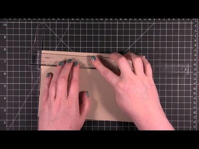Card Making and Paper Crafting How To: Scoring and Folding Card Bases with Cardstock