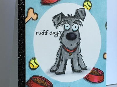 """Card Tutorial (Series) Feat. """"Crazy Dogs"""" by Tim Holtz"""