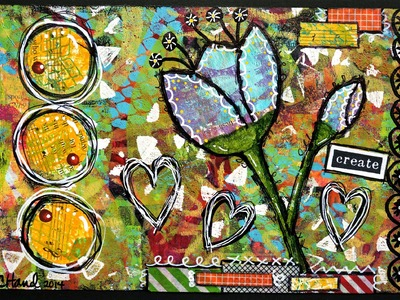 Creating a Card with Gelli® Prints