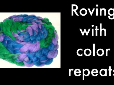 Drum Carder--Roving with Color Repeats