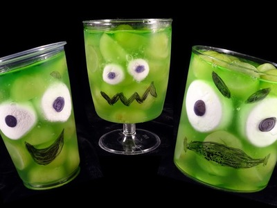 Easy Fruit.Jello Halloween Monster Cups- with yoyomax12