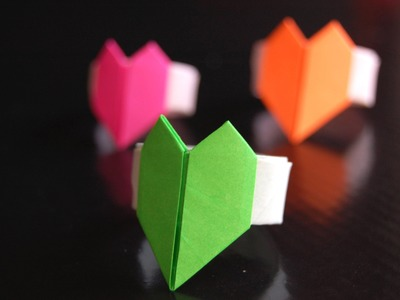 Easy Origami heart ring. Gift for Valentine's day! Ideal gift for sweetheart.