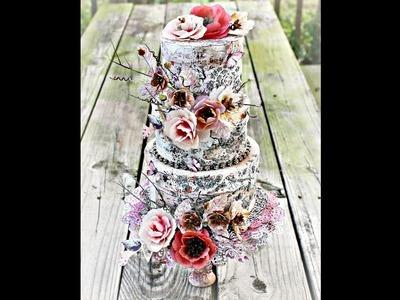 Faux Cake Boxes Home Decor with Miranda Edney