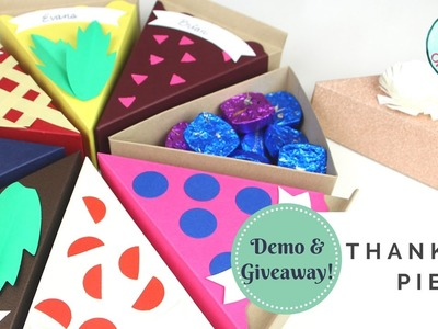 GIVEAWAY & DEMO!! Thankful Pie Kit by Paper Source | How to Make Paper Gift Boxes for Thanksgiving