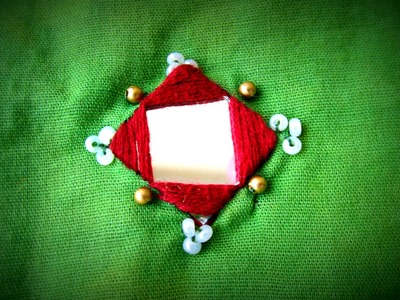 Hand Embriodary: Square Mirror Simple and Easy Stitching Part - I