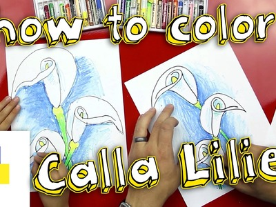 How To Color Calla Lilies With Oil Pastels