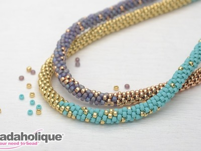 How to Make the Long Beaded Kumihimo Necklace Kit