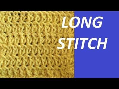 Knit Pattern * PRETTY LONG STITCHES *