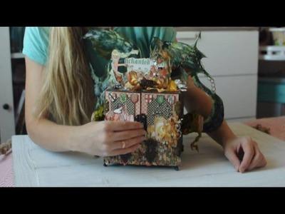 Mini Album-Kaleidoscope tutorial by Lena Astafeva for Graphic 45 DT 2016 Call-final round
