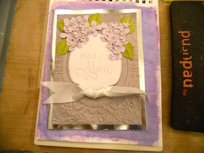 Mother's Day Card with Anna Griffin Embossing folder