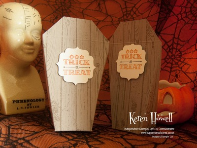 Stampin' Up! Creepy Coffin Stay closed box