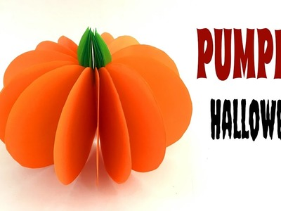 "Tutorial to make ""Pumpkin"" for Halloween - DIY 