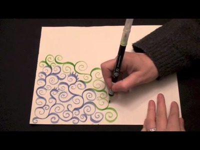 ASMR Tingly Doodle Spiral Vines (high quality sound, drawing, trigger, Zen doodle, no speaking)